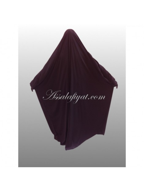 jilbab saoudien assalafiyat une pièce prune