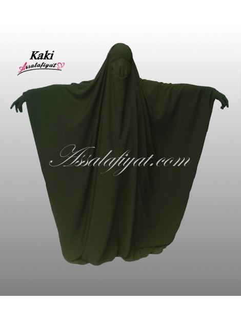 jilbab saoudien assalafiyat une pièce kaki