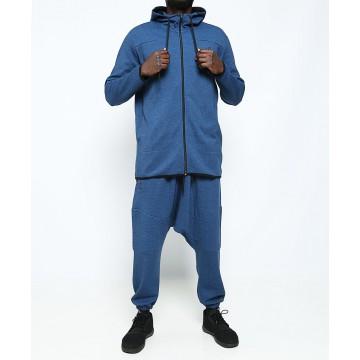 Veste jogging dc jeans bleu chiné