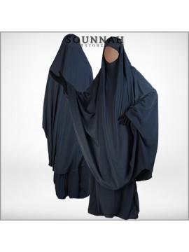 Jilbab/Jilbeb 2 pièces jupe gris anthracite Al Manassik