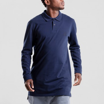 Polo dc jeans manches longues marine