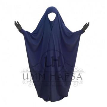 Jilbab/Jilbeb Saoudien Bleu Nuit à Clips Umm Hafsa