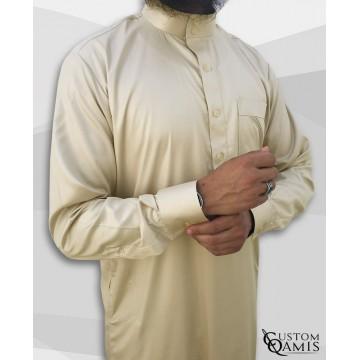Custom qamis classique saoudien beige