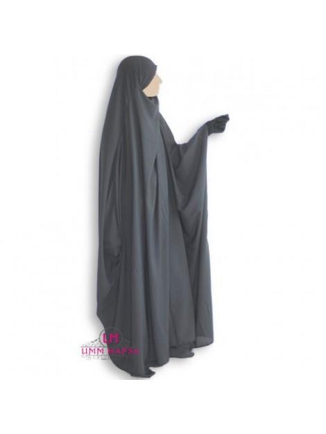 Jilbeb umm hafsa saoudien classique gris