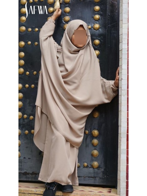 Jilbeb fille Safwa beige