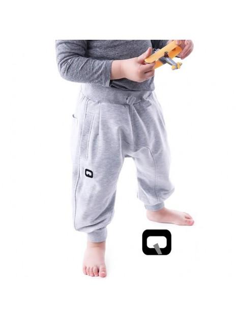 Sarouel jogging enfant gris qaba'il