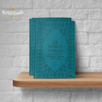 Coran arabe / francais turquoise
