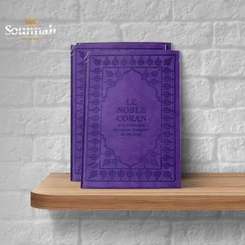 Coran arabe / francais violet