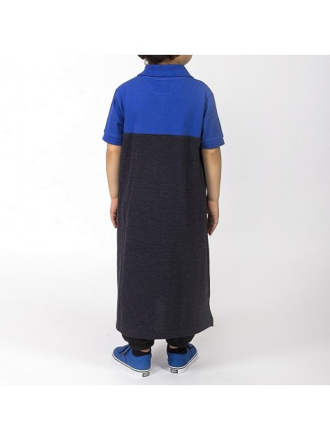 Qamis dc jeans enfant noir et bleu