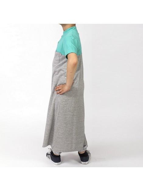 qamis dc jeans enfant gris et vert
